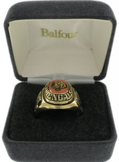 Balfour Ring Football NFL Team Cincinnati Bengals Sz 7 5
