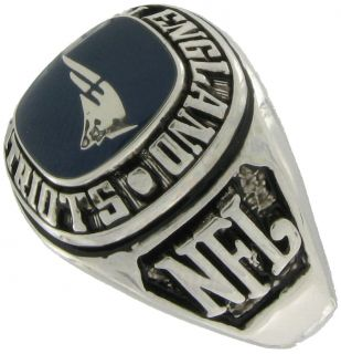 Balfour Ring Football NFL Team New England Patriots Sz 13 5