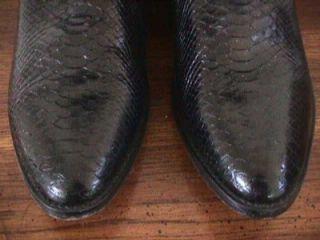 Vintage Dan Post Genuine Python Western Snake Skin Boots Sz 10 M NR