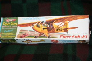 Cub J 3 balsa wood true scale flying model Plane Super Stars Plane