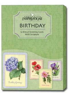 Box of 12 Assorted Scriptured Birthday Cards with Envelopes