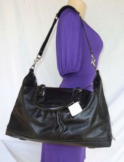 nwt coach ashley leather large satchel bag black 15447