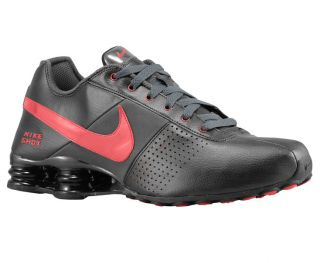 Nike Shox Deliver Leather Running Shoes Black Sport Red 6 5