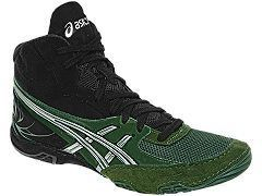 New Mens Asics Cael 4 0 Wrestling Shoes Forest Silver Black J901Y 8193