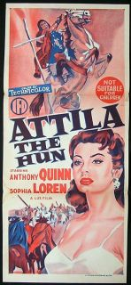 Attila The Hun Movie Poster 1954 Sophia Loren Daybill