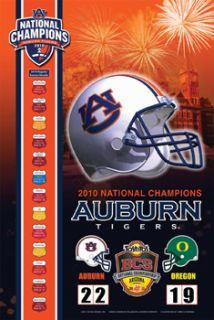 Auburn Tigers 2010 NCAA FOOTBALL NATIONAL CHAMPIONS Commemorative