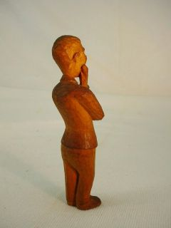 modern art wood carved sculpture man woman beast