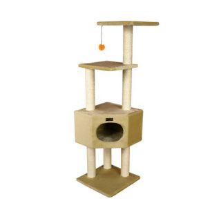 Armarkat 52 inch Wooden Step Cat Tower Tree Condo Scratcher Kitten