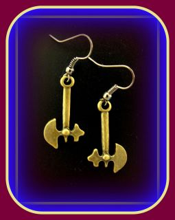 Atlanta Braves or FSU TOMAHAWK HATCHET EARRINGS Jewelry Antique Indian