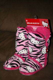 Hello Kitty Junior Girls Bootie Slippers House Shoes Size Medium 7 8