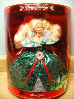 Holiday Barbie Doll Green Dress Happy Holidays Mint MIB Christmas Gift