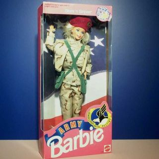 Military Army Desert Storm Barbie Fashion Doll Mattel 1992