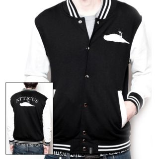 Atticus Varsity Jacket Black White Small Brand New