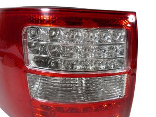 Depo 98 04 Audi A6 Allroad Avant Red Clear LED Rear Tail Light Touring