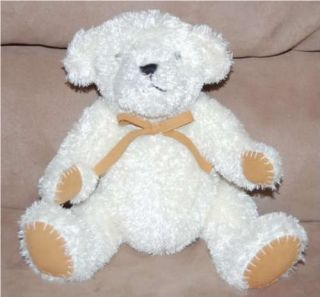 Pottery Barn Kids Creme Plush Teddy Bear Tan Paws Pbk