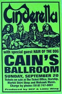 1997 Tulsa Concert Tour Poster 1980s Hard Rock Hair Band