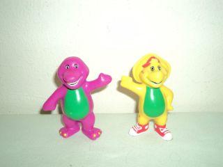 Barney the Dinosaur PVC CAKE TOPPER FIGURES LOT   Barney & BJ