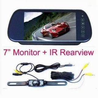 New 7 Car LCD Monitor Mirror IR Reverse Car Rear View Backup Camera