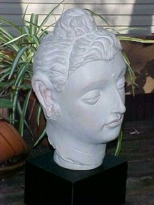 Vintage AUSTIN SCULPTURE Bust ~BUDDHA~ Gandhara Reproduction