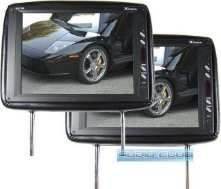 11 Universal Fit Headrest Car Monitor 2yr Waranty for DVD GPS Black