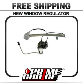 New Front Door Power Window Regulator w Motor Right Passenger Side