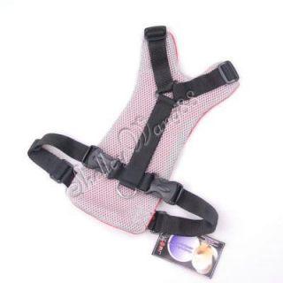 Soft Dog Pet Harness Car Vehicle Seat Safety Belt Red