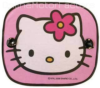 Hello Kitty Car Sun Shades Qty 2 Sunshades Side or Rear Window Storage