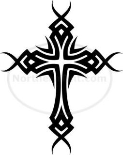 Tribal Cross Car Decal Window Sticker Wall Art 213