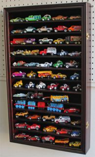 Hot Wheels Matchbox Car Display Case Cabinet Wall Rack Kid Safe Door