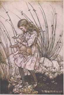 ARTHUR RACKHAM ALICE IN WONDERLAND BABY PIGLET MOUNTED PRINT FANTASY