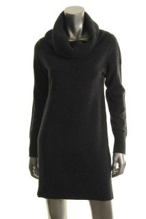 Wyatt New Gray Wool Cashmere Thermal Detail Cowl Neck Long Sleeve