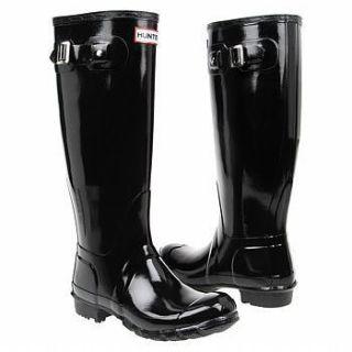 Hunter Original Tall Black High Gloss Rain Boot Women
