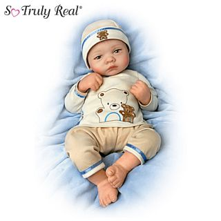 bearly asleep 19 inch lifelike baby boy doll