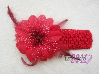 New Cute Baby Infant Girl Boy Crochet Hair Headband Christmas Flower