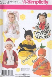 Pattern Sewing Simplicity Baby Toddler Costume Bee Bunny Sz XXS L New