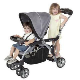 Baby Trend Deluxe Sit N Stand DX Stroller Matrix Duo Double Black Gray