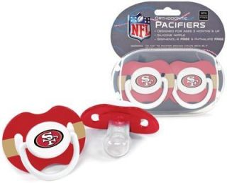 Francisco 49ers Pacifiers 2 Pack Set Infant Baby Fanatic BPA Free NFL