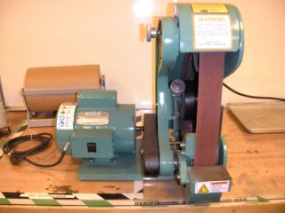 BURR KING Belt Grinder Sander Model 482 Bader
