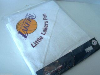 Los Angeles La Lakers Baby Infant Hooded Towel NBA Officially Licensed