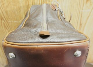 ROOTS plebbled grainy leather DUFFLE luggage travel bag MADE in CANADA