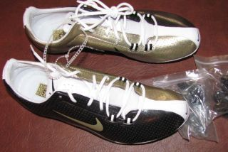 Nike Zoom JA Track & Field Mens Shoes 12 311893 071 Gold Black