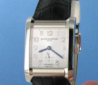 Baume et Mercier 10026 Hampton Automatic SIlver Dial Black Strap Watch