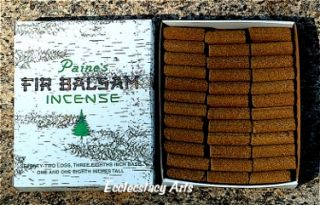 Paines Balsam Fir 144 Incense Logs Christmas Pine Fragrance All
