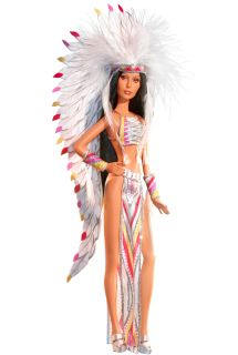 Diva Sonny Cher Show Half Breed Bob Mackie Indian Barbie Doll