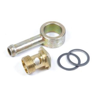 New Holley 9/16 24 Fuel Inlet Banjo Fitting to 5/16 Hose, Street/Hot