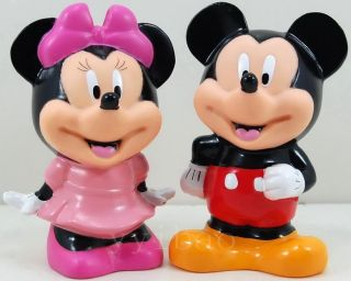 Mickey Minnie Mouse Figures Coin Piggy Banks Moneyboxes Set 2pc