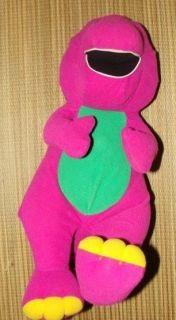 Barney Purple Dinosaur 18 Plush Stuffed Toy Talking Interactive