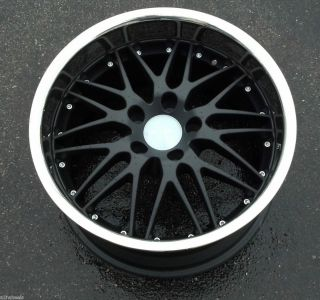 Breyton Spirit 18x9 5 5x120mm Black Stainless Lip Wheel Rim 19mm
