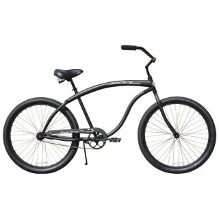 Beach Cruiser Bicycle Firmstrong BRUISER PRESTIGE 26 Mens MATTE BLACK