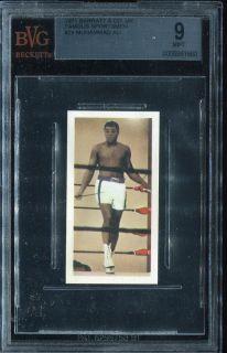 1971 Barratt Co UK 24 Muhammad Ali Casius Clay RC Rookie BVG BGS 9